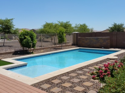 pool - view fence - no neighbors behind!!
